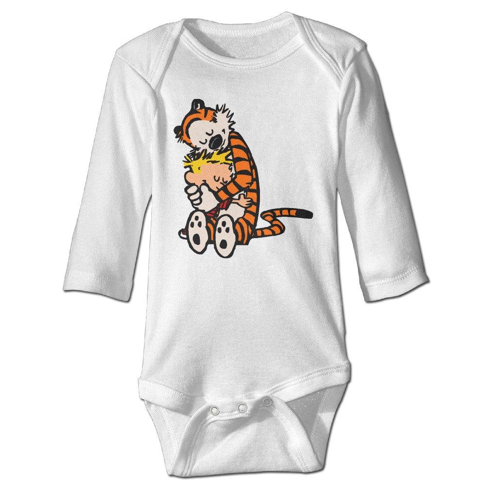 Yog Milk Calvin And Hobbes Infant Babys Romper Long Sleeve