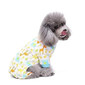 S-Lifeeling - Pijama para perro, diseño de jirafa, cómodo, para cachorro