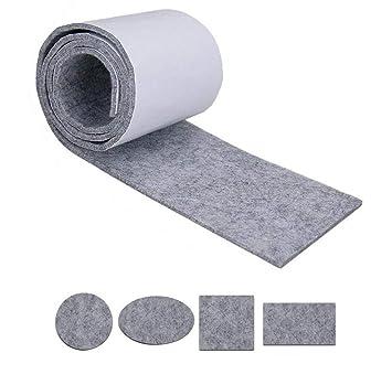 1 rollo 39.3 pulgadas cortable autoadhesivo pegajoso fieltro tiras muebles muebles cojines protectores de piso para