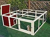 """Petsfit 63.8"""" LX 63.4""""W X 23.6""""H Outdoor Rabbit Hutch Outdoor,Chicken Coop"""