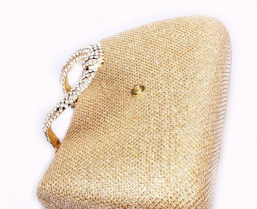 ROICHIC - Cartera de mano de Satén para mujer multicolor multicolor dorado