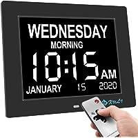 Digital Calendario Día Reloj con No abkürzungen Día