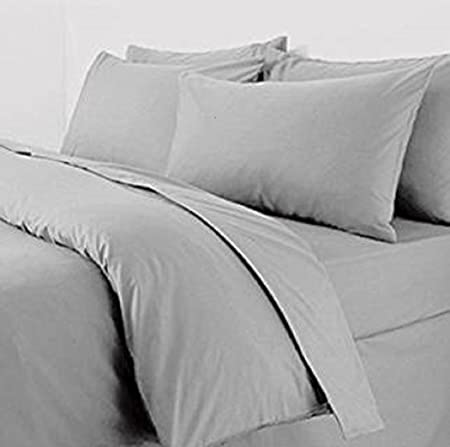 Extra Large Pillow Case Pair 22x31 Grey Pillowcases Percale