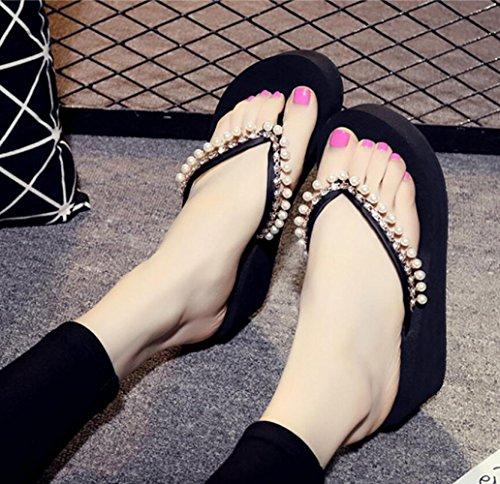 à Sandales Pantoufles à Pantoufles Talons Onecolor pour Talons Stylées en Tongs CHENGXIAOXUAN Nouvelles Chaussures Été épaisses Antidérapantes Sandales Femmes Semelles à Romaines 0qdwxZB