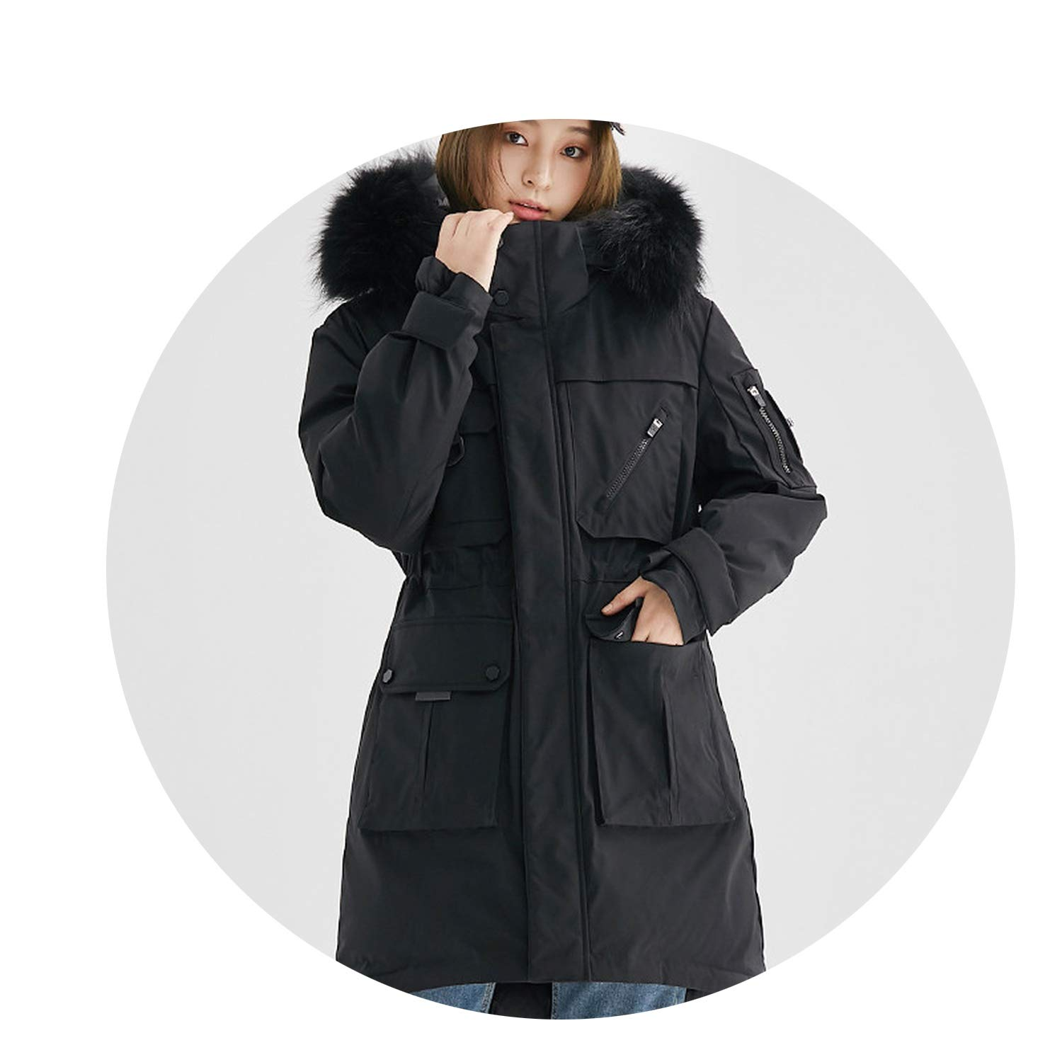 Amazon.com: Fresh -house The Item was Updated,Women Clothes Down Jacket Woman Hooded Long Coats Winter Coat Women R-accoon F-ur Collar: Clothing