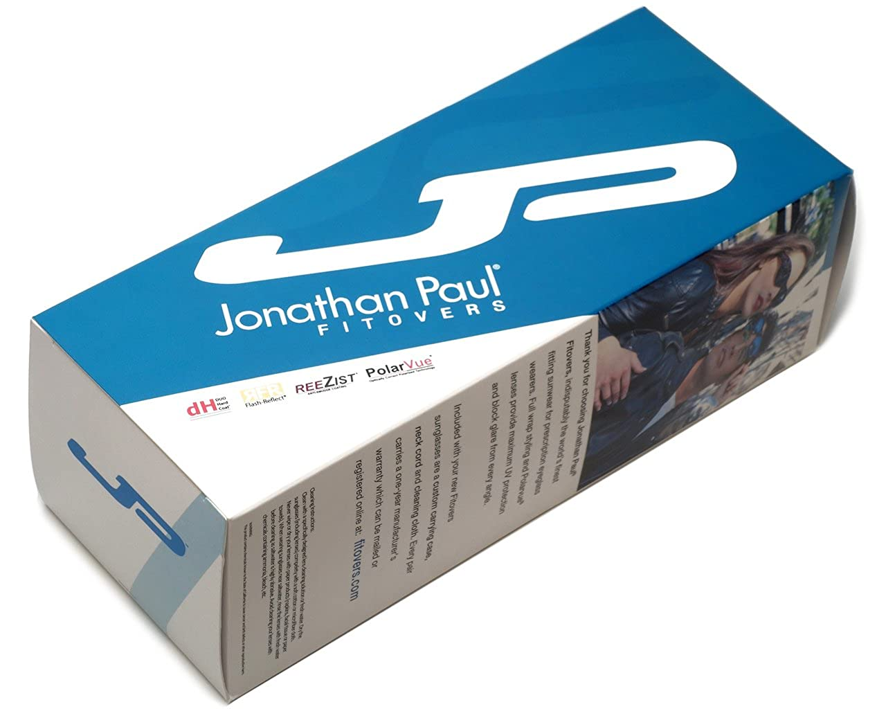 d5b2ce1c0d Amazon.com  Jonathan Paul® Fitovers Mooya Large Polarized Over Sunglasses    Black-Wind   Polarvue Blue Mirror  Clothing
