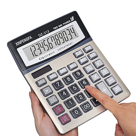 Amazon.com: Xinpengfa calculadora de oficina, 12 dígitos ...