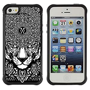 Hybrid Anti-Shock Defend Case for Apple iPhone 6 4.7 6 4.7 Psychedelice Tiger