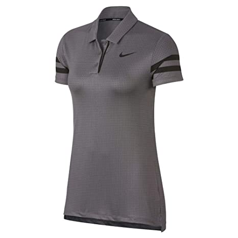 Nike W NK Dry Polo SS FA PRT - Polo, Mujer, Multicolor(Gunsmoke ...