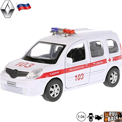 1:36 Scale Diecast Metal Model Car Renault Kangoo Minivan Russian Ambulance Die-cast Toy Cars: Toys & Games