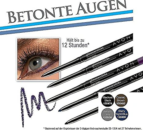 Avon Glimmer Stick lápiz de ojos Kajal lápiz Fb. Starry Night Blue
