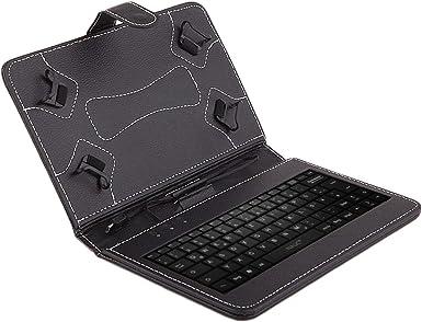 NAUC Funda para tablet Samsung Galaxy Tab A6 10.1, funda para tablet y teclado [teclado alemán QWERTZ], con cable USB