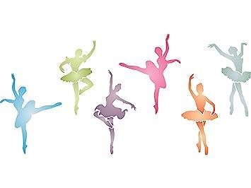 Ballerinas Schablone U2013 (Größe 34 X 16,5 Cm) Wiederverwendbar Wand  Schablonen Für
