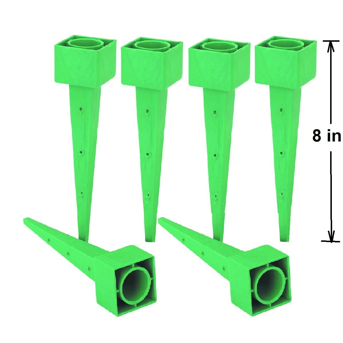 (Set of 6) 8 in. Garden Home Plant Deep Watering Cone System for All Types of Soil
