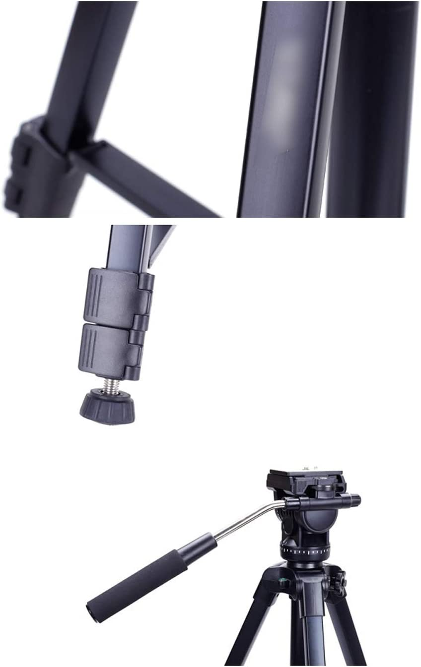 CJGXJZJ Camera Tripod SLR Professional DV Hydraulic PTZ Portable Camera Stand Light Aluminum Tripod Suitable for Travel Outdoor Photography