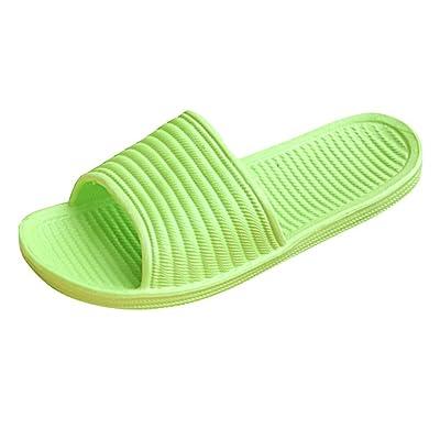 Aobiny Women Stripe Flat Bath Slippers Summer Sandals Indoor & Outdoor Slippers
