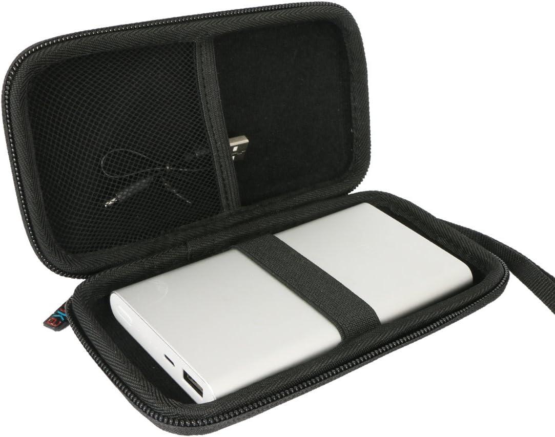 Khanka Duro Viaje Estuche Bolso Funda para Xiaomi 10000 mAh Power Bank 2 Cargador de batería portátil batería externa carcasa rígida de transporte bolsa de viaje cubierta