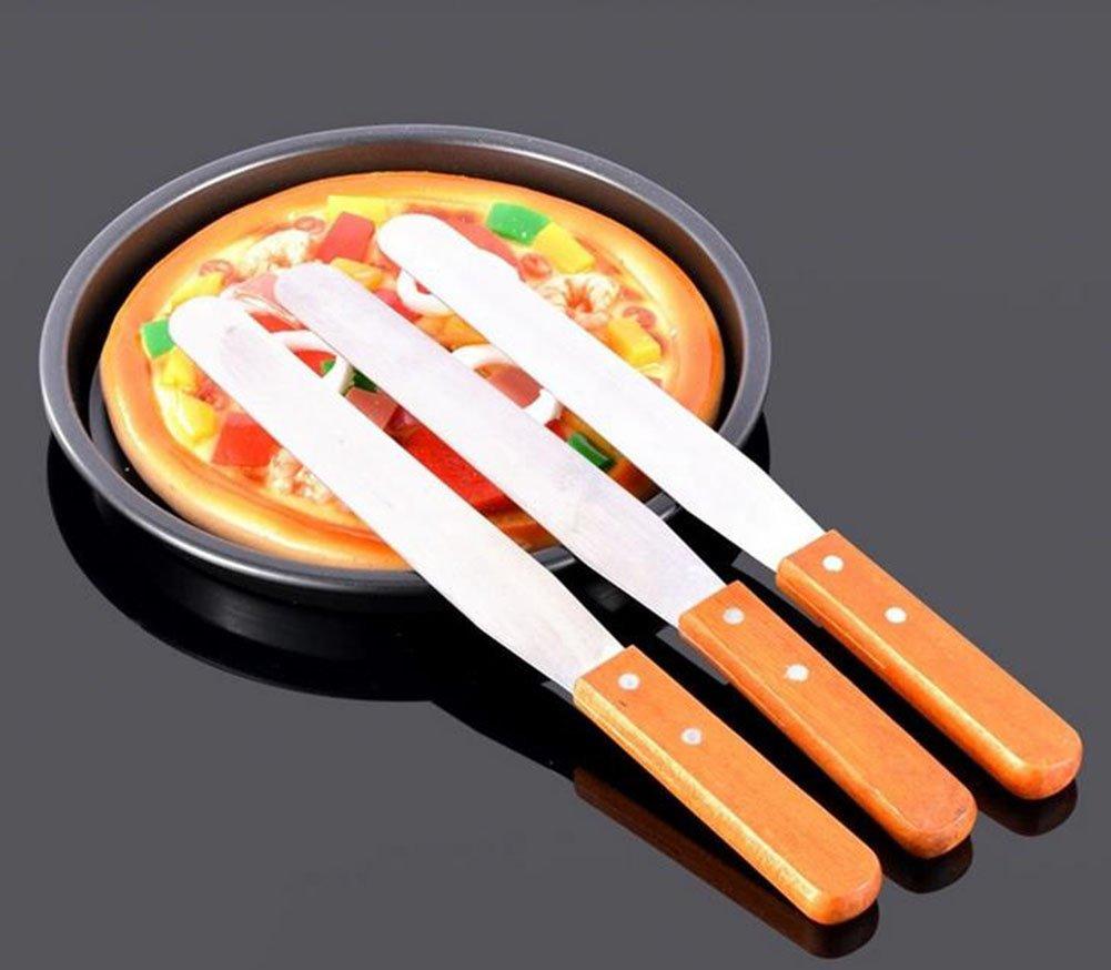Demarkt Baking Tool 8 Inch Wooden Handle Spatula Blade Tool Cake Tool by Demarkt (Image #6)