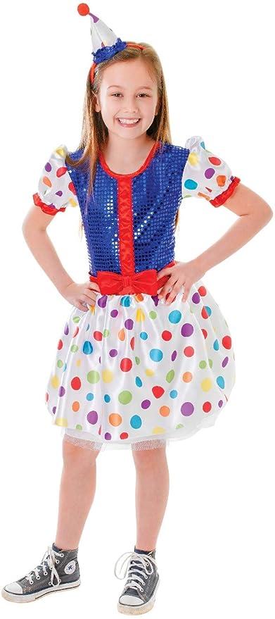 Fancy Me Disfraz para niñas, diseño de Payaso de Payaso con Texto ...