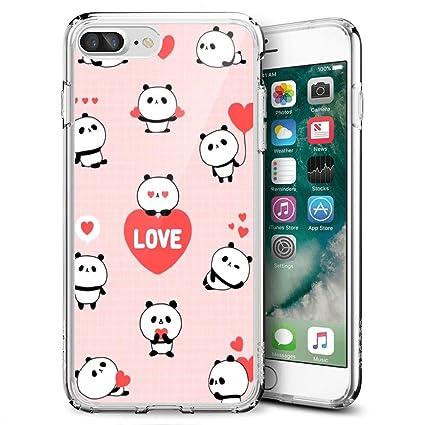 Amazon com: MooreDickey iPhone 7 Plus 8 Plus Case, Pink Cute