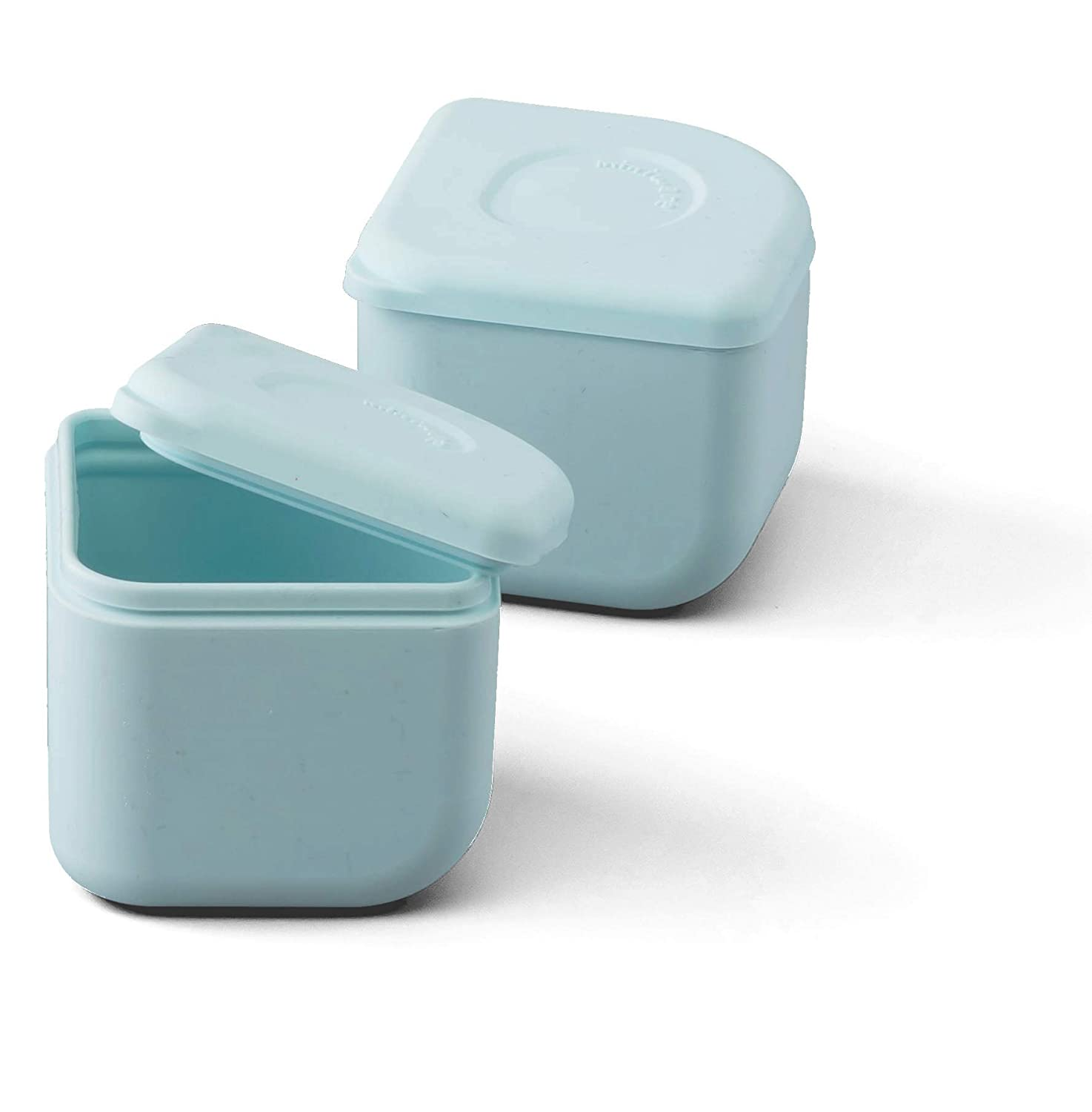 Miniware Silipods Aqua 2 Pack   Leakproof Durable Food Grade Silicone Hot and Cold Food Storage for Baby Toddler Kids   Dishwasher, Fridge, and Freezer Safe   for Purees, Soups, Dressings, and More