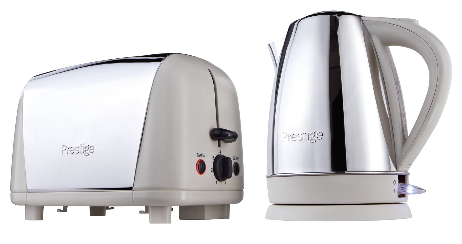 Prestige Create Breakfast Set includes Kettle and Toaster, Stainless Steel/Almond Meyer Group Ltd. 53233