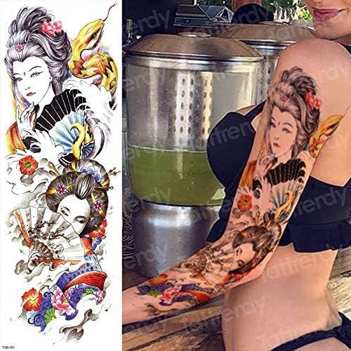 tzxdbh Etiqueta engomada del Tatuaje Temporal del Brazo de Las ...