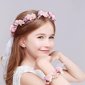 Kinder Blumen Kranz Kleinkind Mädchen Stirnband Haarband Haarspange Garland