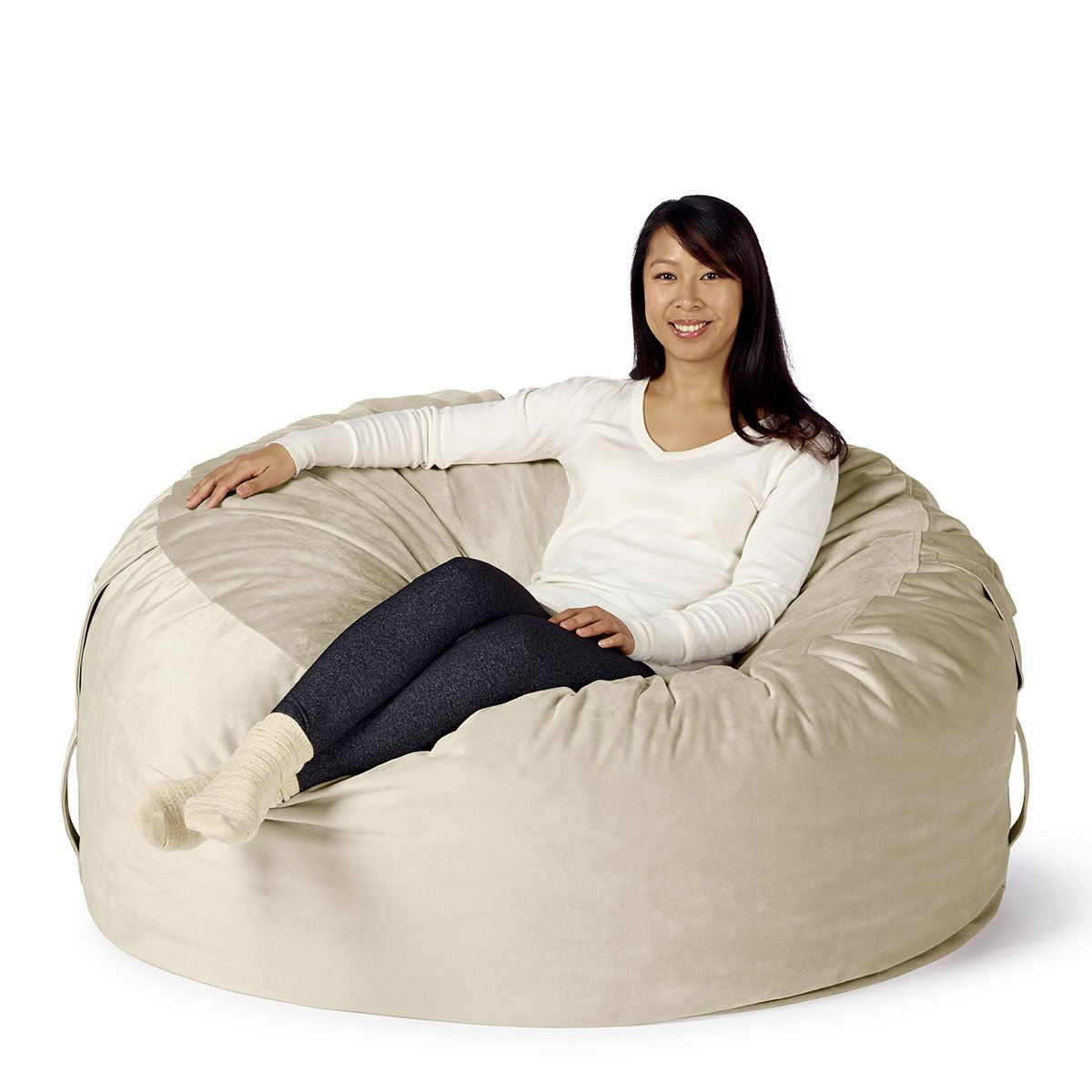 """Take Ten Large 50"""" Luxury Bean Bag Chair – Multiple Colors / Seats 1 to 2 Adults / Durable and Comfortable"""