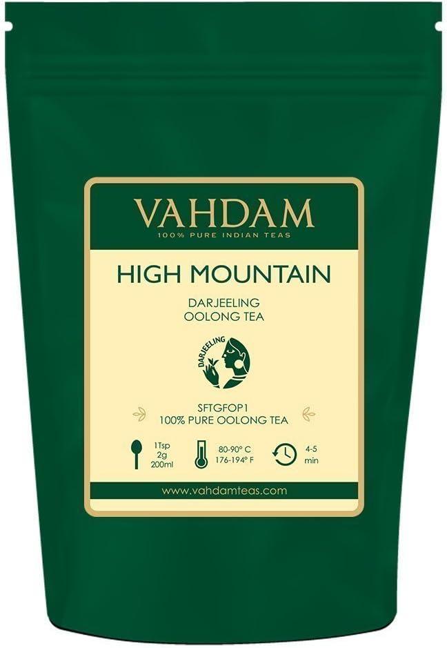 Hojas de té Oolong de alta montaña de Himalaya (50 tazas), 100gr, TÉ OOLONG PARA PÉRDIDA DE PESO, 100% de té de desintoxicación natural, te oolong adelgazante | Té de hojas sueltas