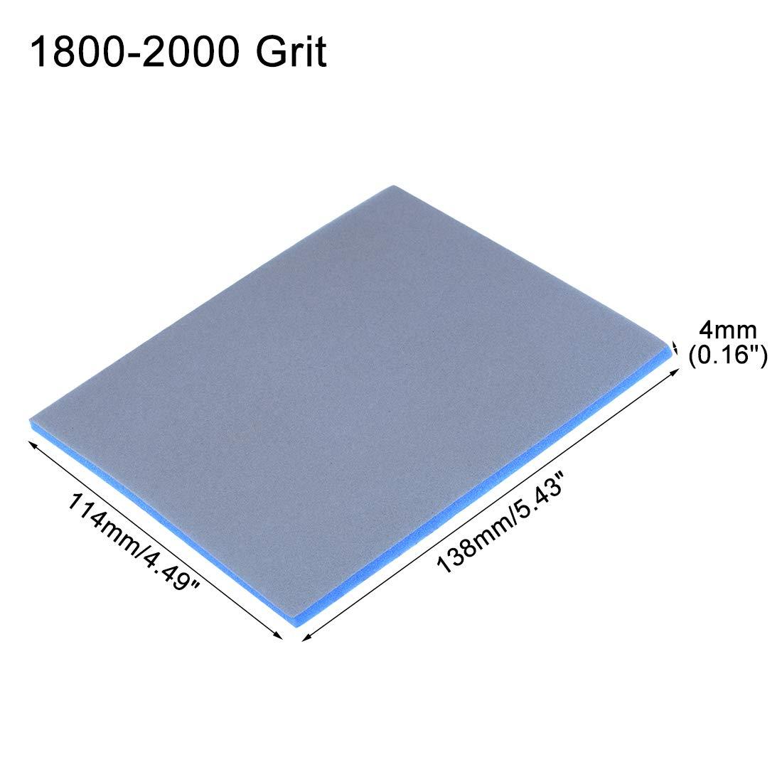 140mmx112mmx5mm /éponge Bloc pon/çage grain 600