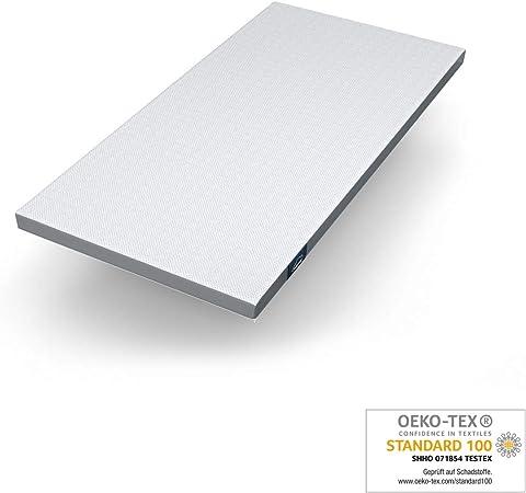NEU Viscoelastische Matratzenauflage m Bezug 200 x 100 x 7 cm