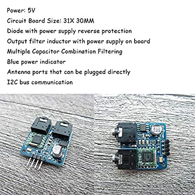 Ximimark 1Pcs TEA5767 Radio Module FM Stereo Radio Module for Arduino 76-108MHZ Frequency AGC Circuit with Free Cable Antenna: MP3 Players & Accessories