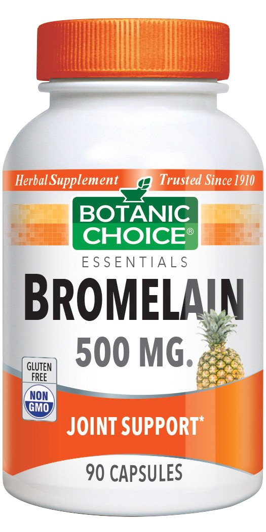 Botanic Choice Bromelain Capsules, 500mg, 90-Count Bottle