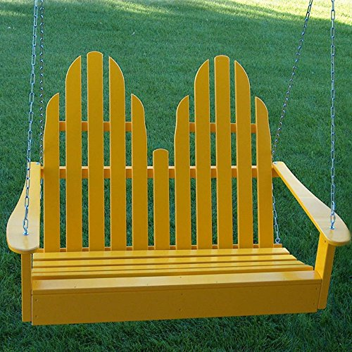 Adirondack Porch Swing Yellow Prairie Leisure Design