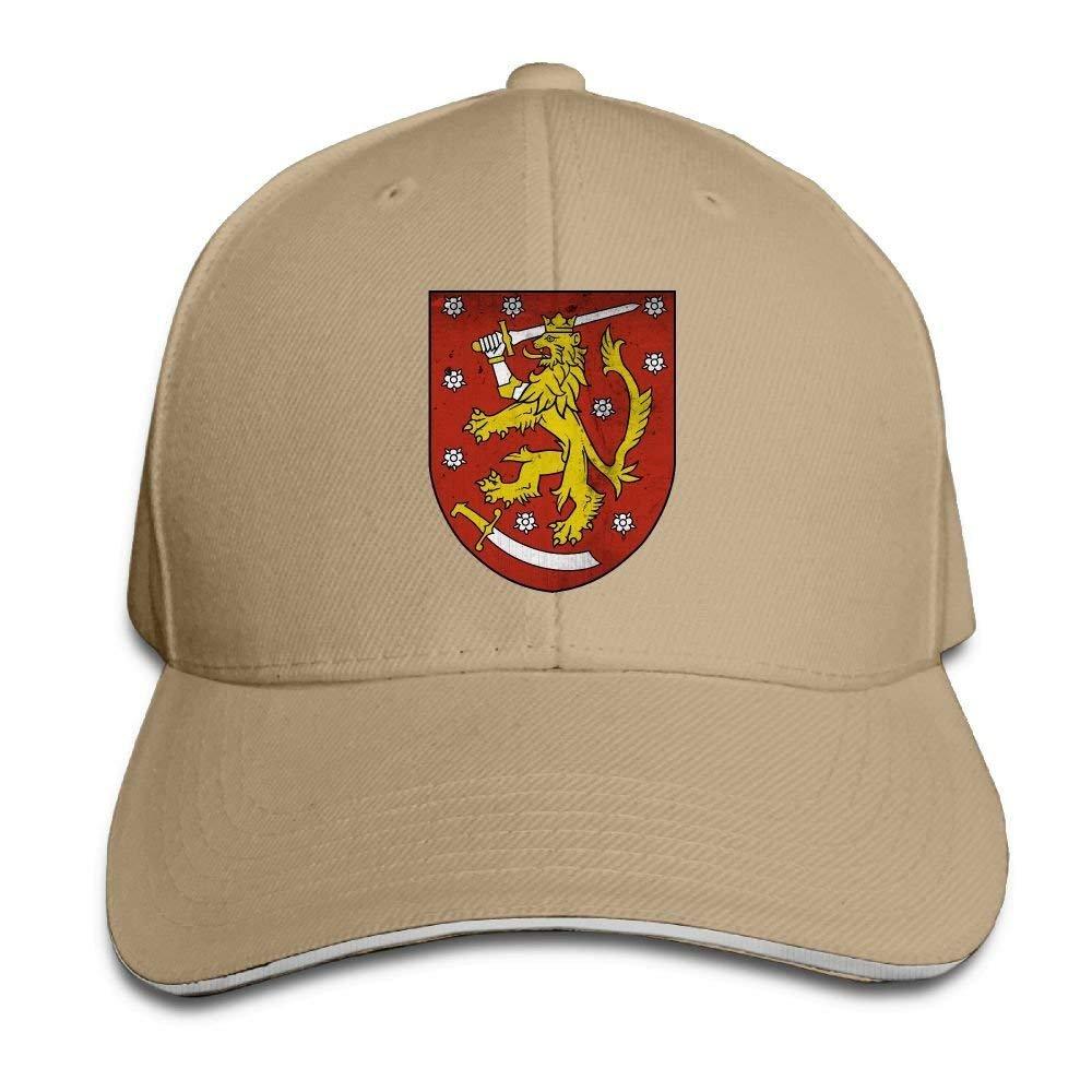 JTRVW Coat of Arms of Finland Unisex Washed Retro Adjustable Cowboy Hat Baseball Cap Multicolor56