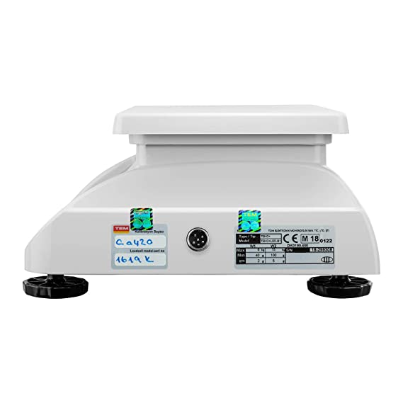 TEM Balanza Comercial TEKO+LED15T-PLS-B1 (calibrada, 6 kg/15 kg, 2g/5 g, Pantalla LED, Batería 40 h, Diversas funciones): Amazon.es