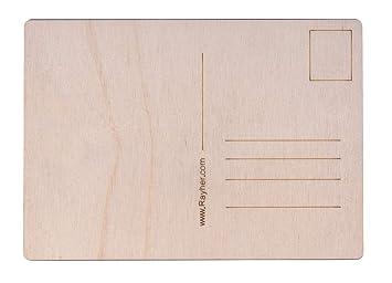 Postkarten aus Holz Btl 14,8 x 10,5 x 0,3 cm Rayher 62843505 Holz-Postkarten 2 St/ück