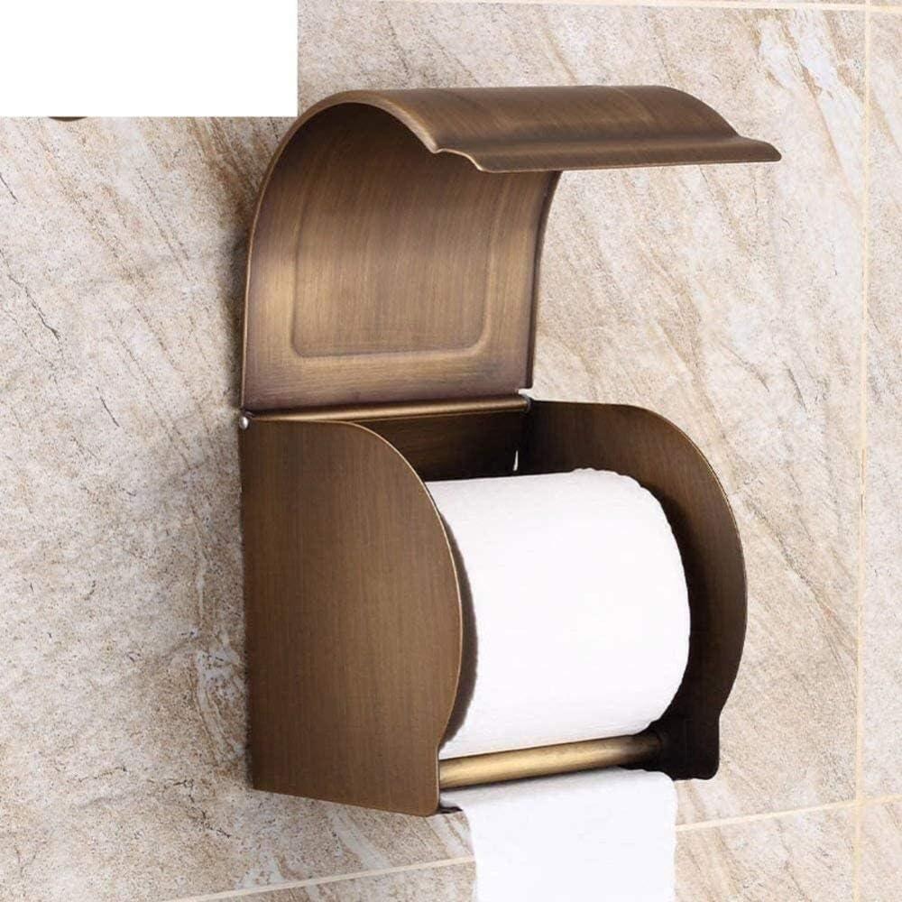 con Inodoro Antiguo analógico Caja de pañuelos Impermeable Totalmente Cerrada Soporte de Papel higiénico enrollador de Inodoro Accesorios de baño -A Improve