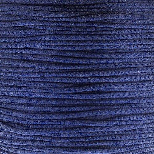 1mm Rattail Satin Cord - Dark Blue - 5m