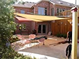 YGS 20 ft x 20 ft Oversized Sun Shade Sail UV Block