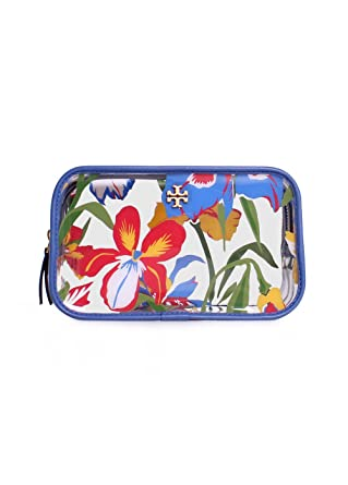 4770e5530660 Image Unavailable. Image not available for. Color  Tory Burch Floral PVC  Cosmetic Case ...