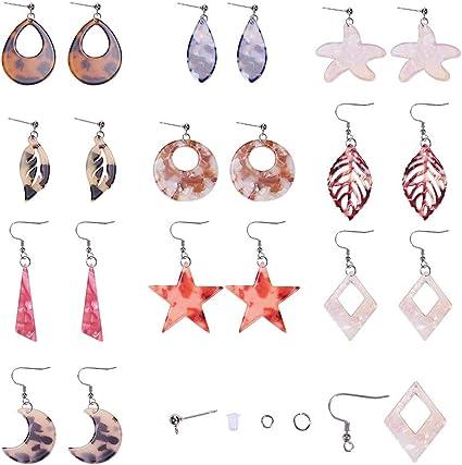 Bohemian Hollow Round Acrylic Pearl Drop Dangle Earring 5 Colors Fashion Jewelry