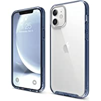"""elago Hybrid Clear Case Designed for iPhone 12 Case & iPhone 12 Pro Case (6.1""""), Anti-Yellow Durable PC Back, Flexible…"""