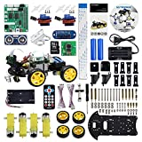 UCTRONICS Robot Car Kit for Raspberry Pi - Real Time Image and Video, Line Tracking, Obstacle Avoidance with Camera Module, Line Follower, Ultrasonic Sensor and App Control - Pi NOT Included