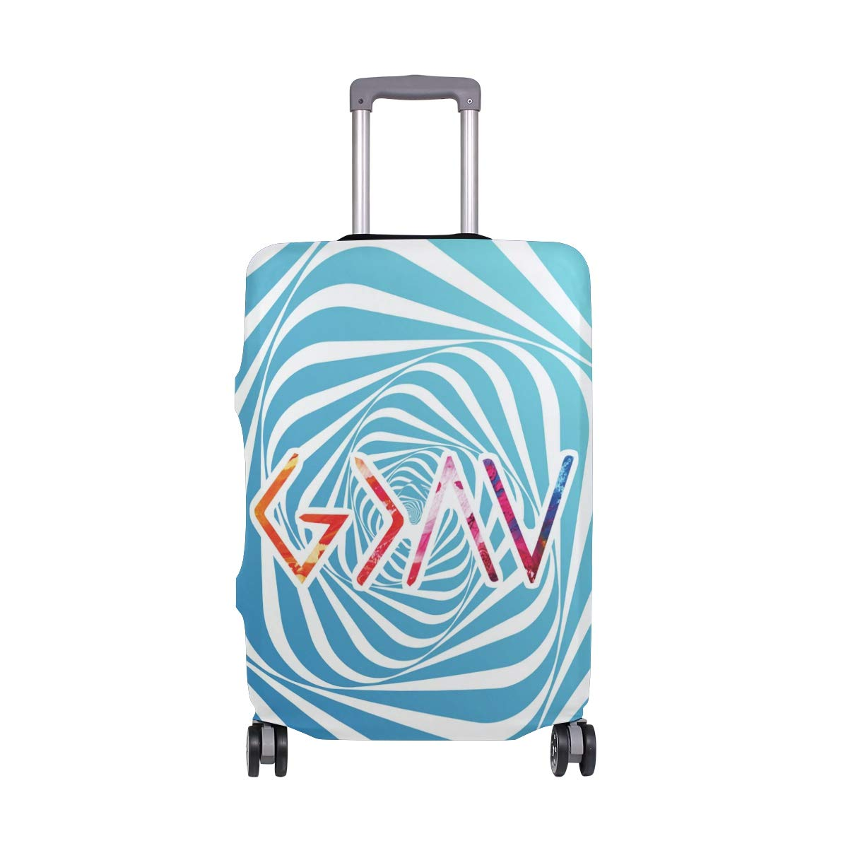 God Is Greater Travel Luggage Cover - Suitcase Protector HLive Spandex Dust Proof Covers with Zipper, Fits 18-32 inch