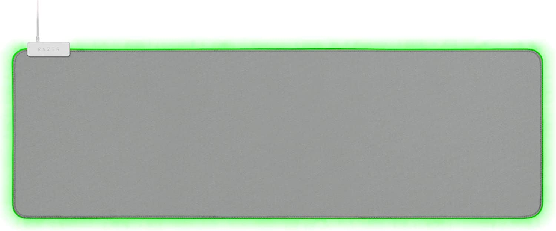 Razer Goliathus Extended Chroma Gaming Mouse Pad: Customizable Chroma RGB Lighting - Soft, Cloth Material - Balanced Control & Speed - Non-Slip Rubber Base - Mercury White
