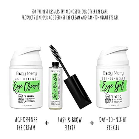 592a2b8a094 Body Merry Lash & Brow Elixir- Biotin Infused Eyelash & Eyebrow Serum for  Visibly Longer & Fuller Lashes & Thicker Eyebrows w Natural Hyaluronic Acid  + ...