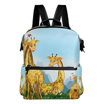 Backpacks Giraffe Boy Girl School Bag Travel ShoulderBag Satchel Women Rucksack