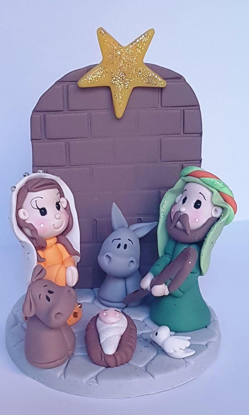 Belen Pesebre Realizado a mano en Porcelana fria Navidades: Amazon.es: Handmade